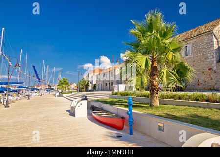 Stari Grad on Hvar Island, Dalmatia, Croatia - Stock Photo