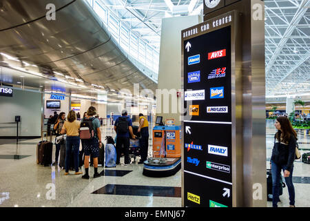 rental car center miami international airport stock photo 53789085 alamy. Black Bedroom Furniture Sets. Home Design Ideas