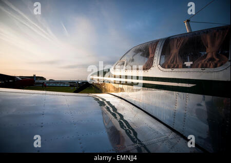CHICHESTER, ENGLAND - September 12-14, 2014: Freddie March Spirit of Aviation aircraft on display at the Goodwood - Stock Photo