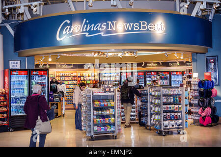 North Carolina, South, Charlotte, Charlotte Douglas International Airport, CLT, terminal, concourse, gate area, - Stock Photo