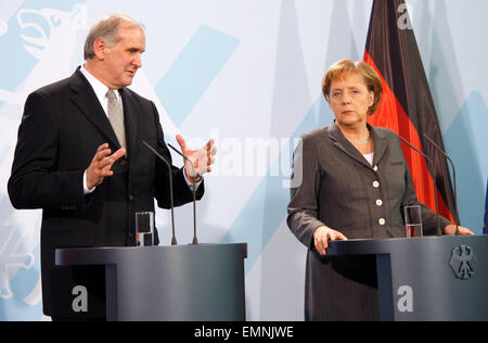Otmar Hasler, BKin Angela Merkel - Treffen der dt. Bundeskanzlerin mit dem Regierungschef des Fuerstentums Liechtenstein, - Stock Photo