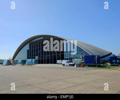 American Air Museum being renovated at Imperial War Museum, Duxford, Cambridgeshire - Stock Photo