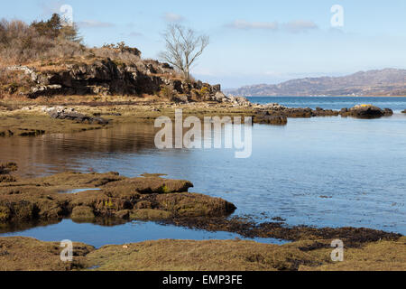 Scenic view of the mountains around Loch Torridon, Wester Ross, Scotland UK - Stock Photo