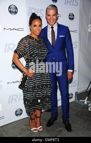 New York, NY, USA. 22nd Apr, 2015. June Ambrose, Jay Manuel at arrivals for IRIS Premiere, The Paris Theatre, New - Stock Photo