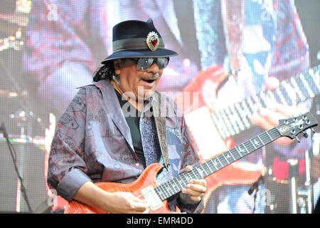 15.JULY.2013. BONN  CARLOS SANTANA AND HIS BAND PERFORM DURING THE SENTIENT TOUR-EUROPE AT THE KUNSTRASEN ON JULY - Stock Photo