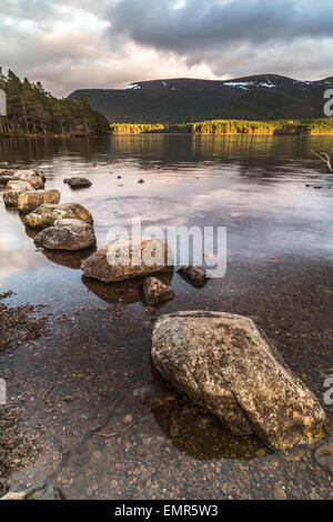 Loch an Eilein at Aviemore in the Highlands of Scotland. - Stock Photo