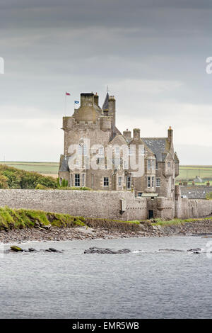 Ackergill Tower near Wick in Scotland. - Stock Photo