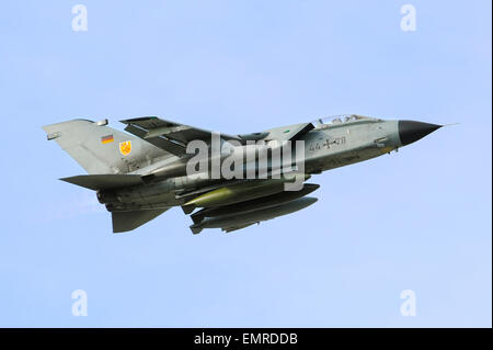 A German Air Force Tornado fighter aircraft take off after a quick refueling at Scott Air Force Base April 15, 2015 - Stock Photo