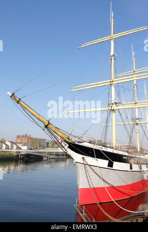 The Glenlee clipper ship situated on the River Clyde in Glasgow, Scotland, UK - Stock Photo