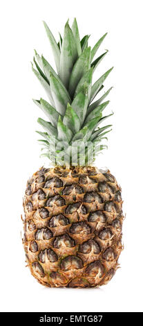 Pineapple fruits isolated on white background - Stock Photo