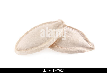 pumpkin seeds isolated on white background with clipping path - Stock Photo