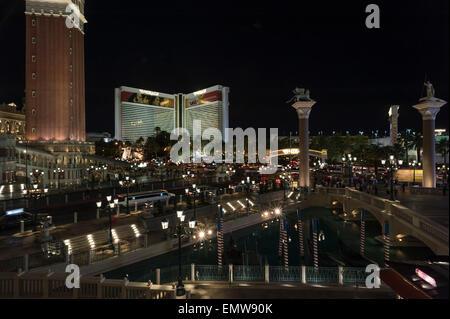 Las Vegas Strip in Las Vegas, Nevada - Mirage in Las Vegas Strip - Stock Photo