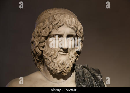 Bust of Pluto (Greek Hades). God of the underworld. Roman copy. Ludovisi Collection. National Roman Museum. Altemps. - Stock Photo