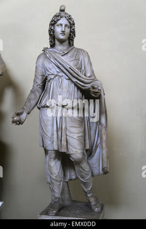 Remodeled Paris. Statue of Cautes, a minor divinity of the Mithraic cult. From Porta Portese. In 18th C. y w - Stock Photo