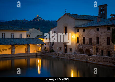 Thermal spa at bagno vignoni attended by popes saints and stock photo royalty free image - Spa bagno vignoni ...
