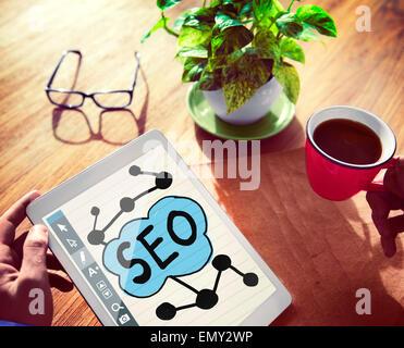 Digital Online Search Engine Optimization Web Online Concept - Stock Photo