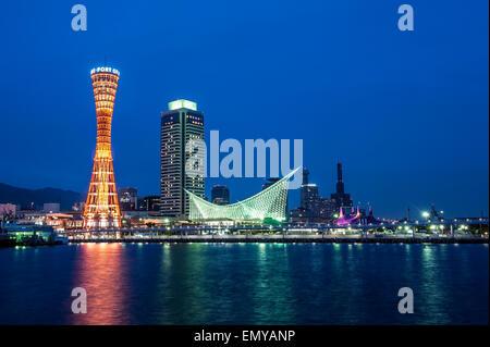 Kobe port in japan - Stock Photo