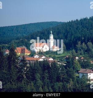 Eine Reise in den Bayerischen Wald, Bayern, Deutschland 1980er Jahre. A trip to the Bavarian Forest, Bavaria, Germany - Stock Photo