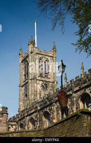 UK, England, Lancashire, Lancaster, St Mary's Priory Church - Stock Photo