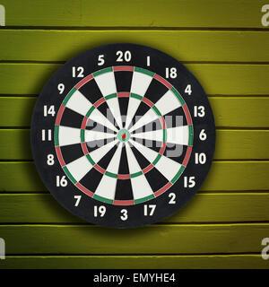 Darts board on - Stock Photo