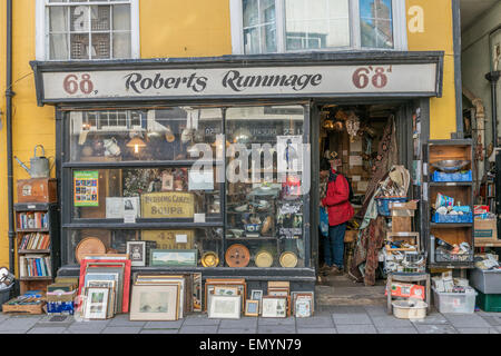 Junk shop. Old town. Hastings. East Sussex. UK - Stock Photo