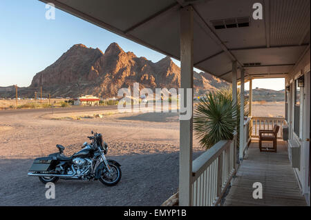 Big Bend resort and adventures. Motor Inn motel. Texas. USA - Stock Photo
