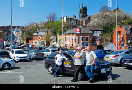 Taxy drivers in Macclesfield, Cheshire, England UK - Stock Photo