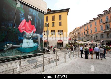 Street life, Porto Nuova district, Milan, Italy - Stock Photo