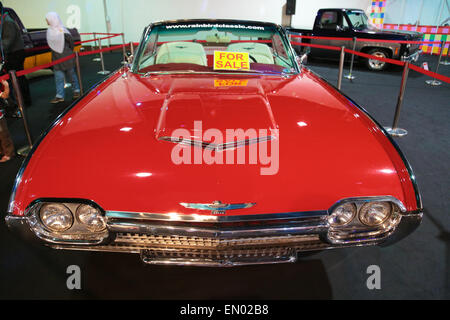 Ford Thunderbird year 1972 vintage car on display at KL International Motorshow 2013. - Stock Photo