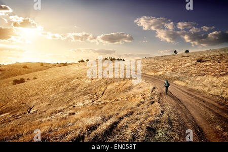 Travel to the mountains in the autumn - Stock Photo