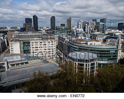 London View from Stone Gallery St Paul's Cathedral Dome England UK - Stock Photo