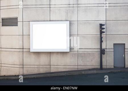 empty billboard in the city - Stock Photo