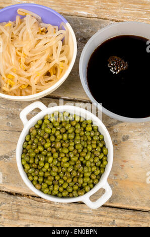 Soy beans sprouts and sauce asian cuisine ingredients for Asian cuisine ingredients