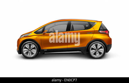 2015 Chevrolet Bolt EV concept electric car side view isolated on white background with clipping path - Stock Photo