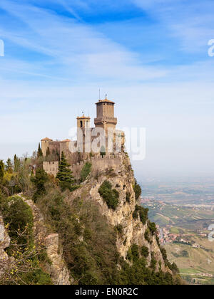 Rocca Della Guaita, ancient fortress of San Marino - Stock Photo