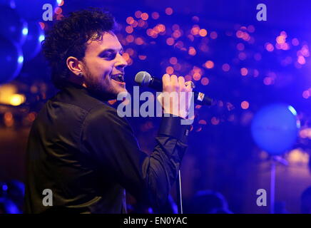 Moscow, Russia. 25th Apr, 2015. Uzari, who is to represent Belarus with Maimuna at the 2015 Eurovision song contest, - Stock Photo