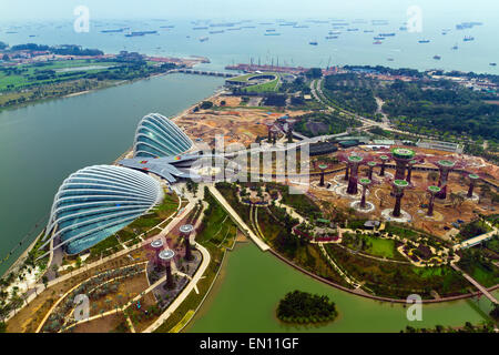 River Hongbao view from the roof top of Marina Bay Sands resort, - Stock Photo