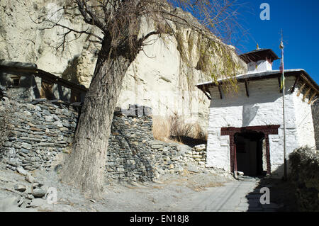 Village Street, Marpha, Nepal - Stock Photo