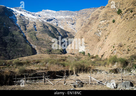 View of the mountains in Southern Mustang, near Kagbeni, Nepal. - Stock Photo