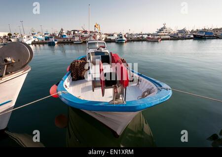 Fishing port of Santa Pola on May 2, 2013 in Santa Pola, Alicante, Spain - Stock Photo