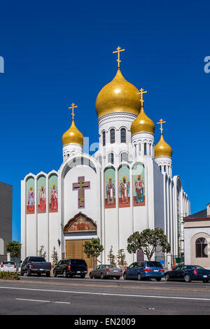Facade of  Russian Orthodox Church in San Francisco, USA. - Stock Photo