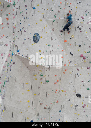 Edinburgh International Climbing Arena - World's largest indoor climbing area. Ratho, nr Edinburgh, Scotland. - Stock Photo