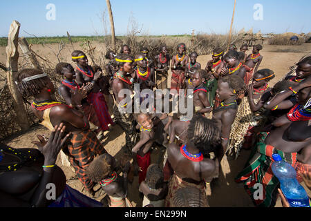 Dasanesh tribe in Ethiopia - Stock Photo