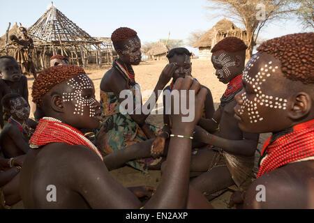 Karo tribe in Ethiopia - Stock Photo
