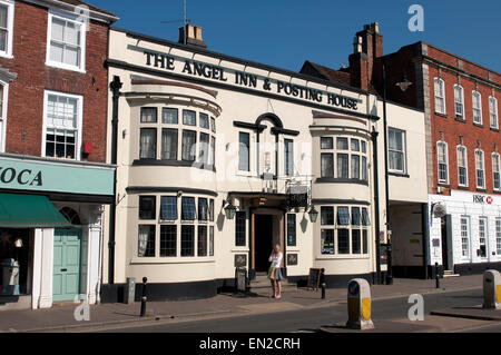 The Angel Inn and Posting House, Pershore, Worcestershire, England, UK - Stock Photo