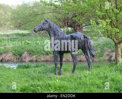 bronze horse statue in a large garden in trumpington near cambridge 25th april 2015 - Large Garden 2015