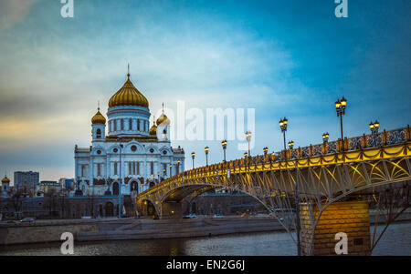 The Cathedral of Christ the Saviour in Moscow, Russia - Stock Photo