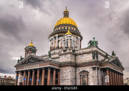 Saint Isaac's Cathedral in Saint Petersburg, Russia - Stock Photo