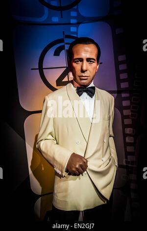 Humphrey Bogart, Madame Tussauds - Stock Photo