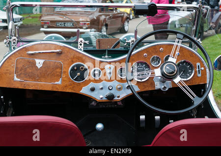 Austin Healey vintage car at the 5th Sunday Brunch Scramble in Bicester Heritage, Oxfordshire, England - Stock Photo